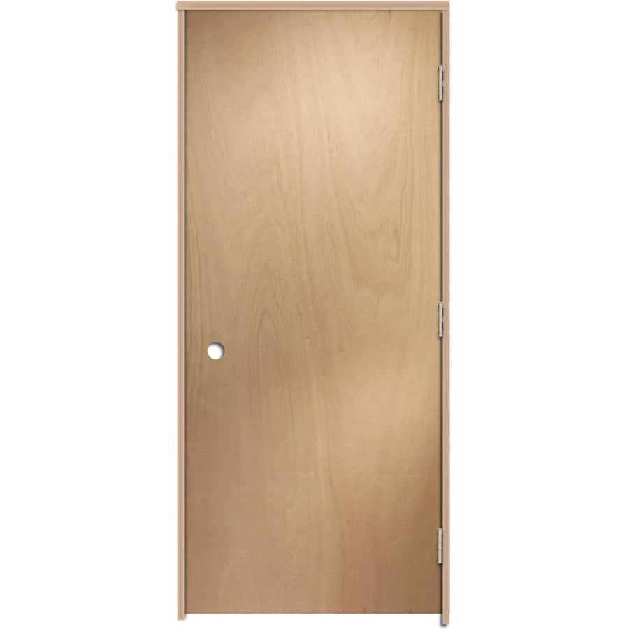 Shop Reliabilt Prehung Hollow Core Flush Lauan Interior Door Common 36 In X 80 In Actual 37