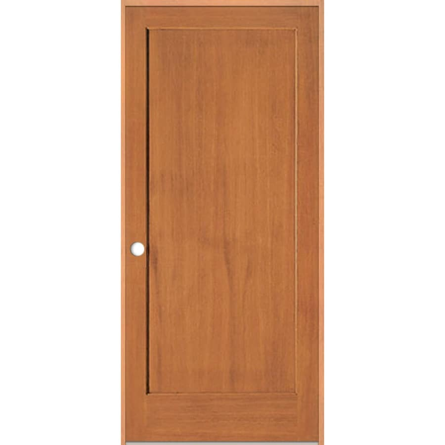 Shop Reliabilt Prehung Solid Core 1 Panel Fir Interior Door Common 36 In X 80 In Actual 37