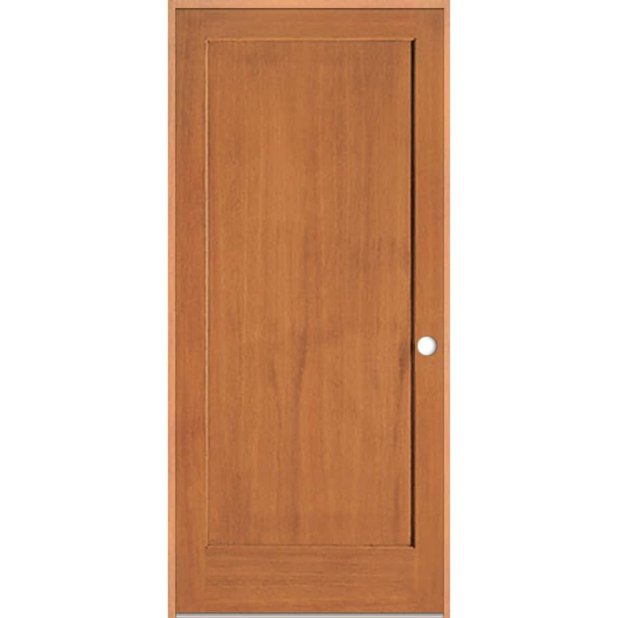 ReliaBilt (Unfinished) Prehung Solid Core 1-Panel Fir Interior Door (Common: 36-in x 80-in; Actual: 37.375-in x 81.312-in)