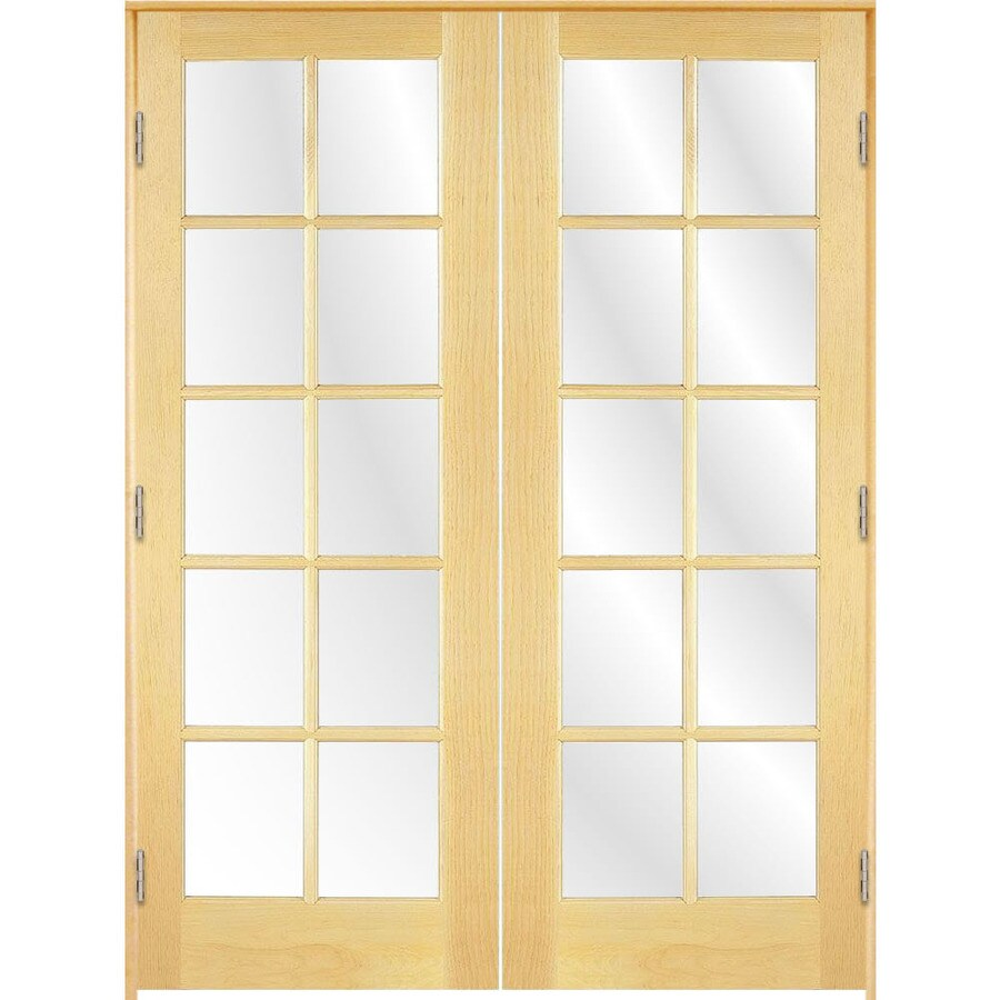ReliaBilt Prehung Solid Core 10-Lite Clear Glass Pine Interior Door (Common: 60-in x 80-in; Actual: 61.375-in x 81.187-in)