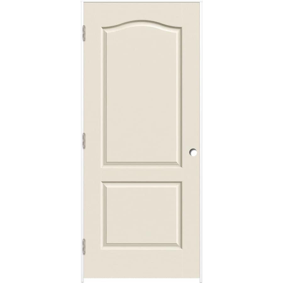 ReliaBilt Prehung Hollow Core 2-Panel Arch Top Interior Door (Common: 30-in x 80-in; Actual: 31.375-in x 81.187-in)