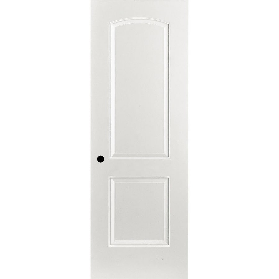 ReliaBilt 2-panel Round Top Single Prehung Interior Door (Common: 24-in X 80-in; Actual: 25.375-in x 81.187-in)