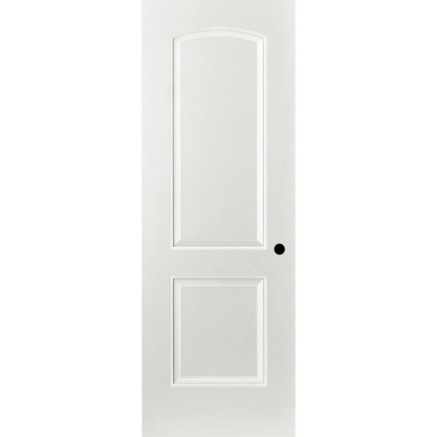 ReliaBilt Prehung Hollow Core 2-Panel Round Top Interior Door (Common: 24-in x 80-in; Actual: 25.375-in x 81.187-in)