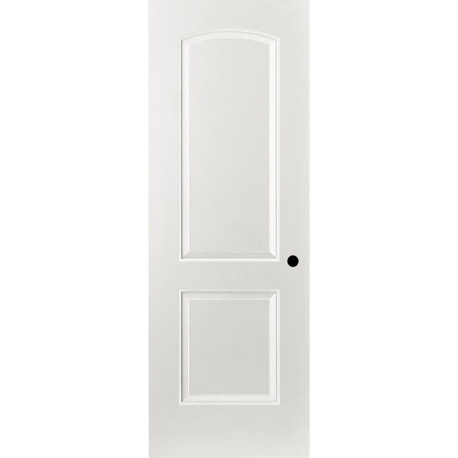 ReliaBilt 2-panel Round Top Single Prehung Interior Door (Common: 32-in X 80-in; Actual: 33.375-in x 81.187-in)