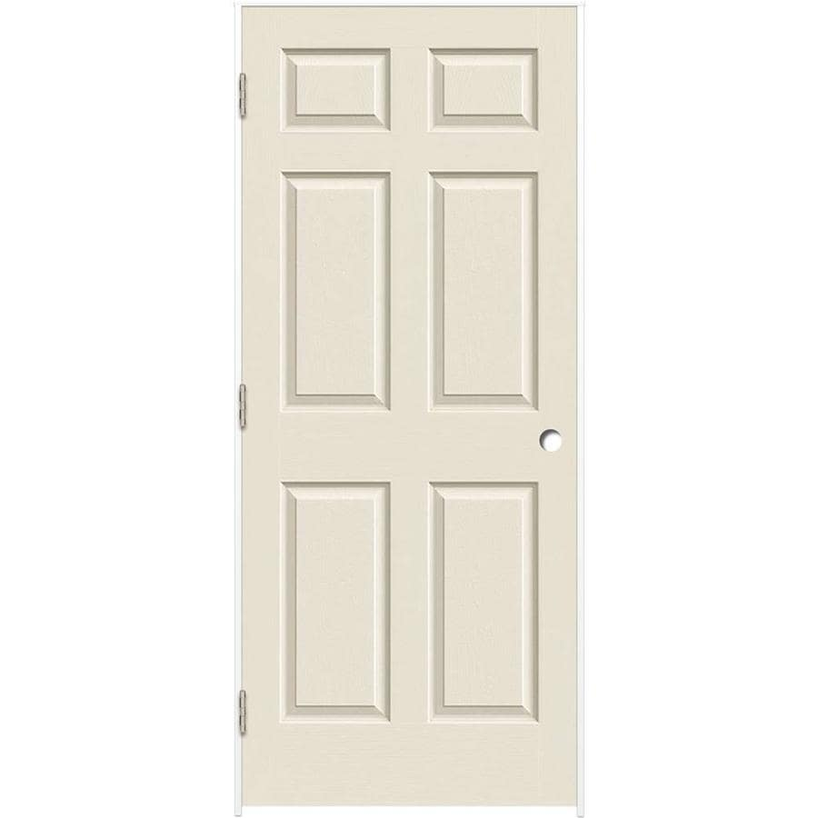Shop Reliabilt White 6 Panel Hollow Core Molded Composite Single Prehung Door Common 24 In X