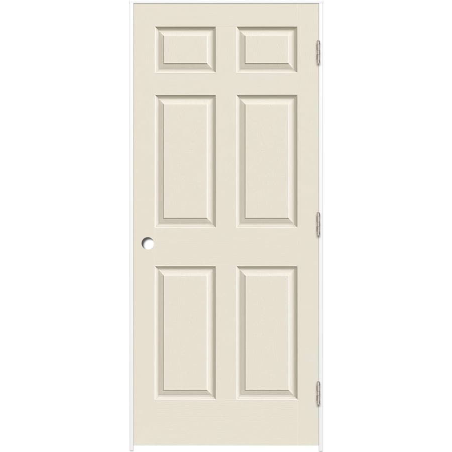 ReliaBilt 6-panel Single Prehung Interior Door (Common: 24-in X 80-in; Actual: 25.375-in x 81.187-in)