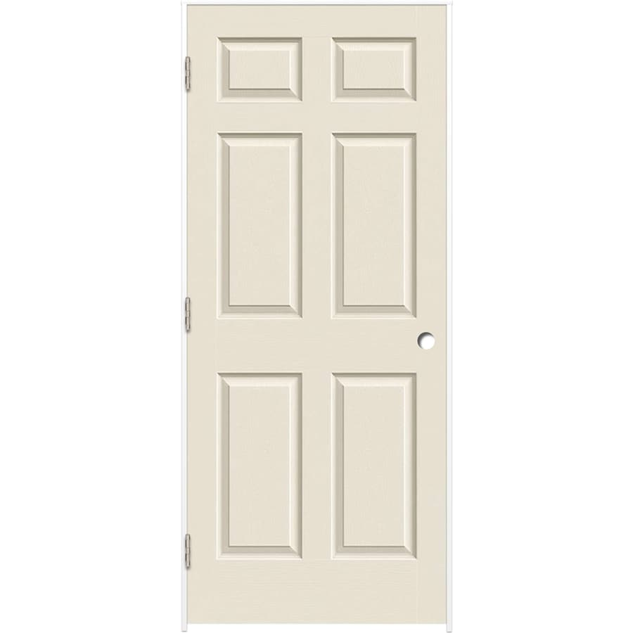 ReliaBilt (Primed) Prehung Hollow Core 6-Panel Interior Door (Common: 36-in x 80-in; Actual: 37.375-in x 81.187-in)