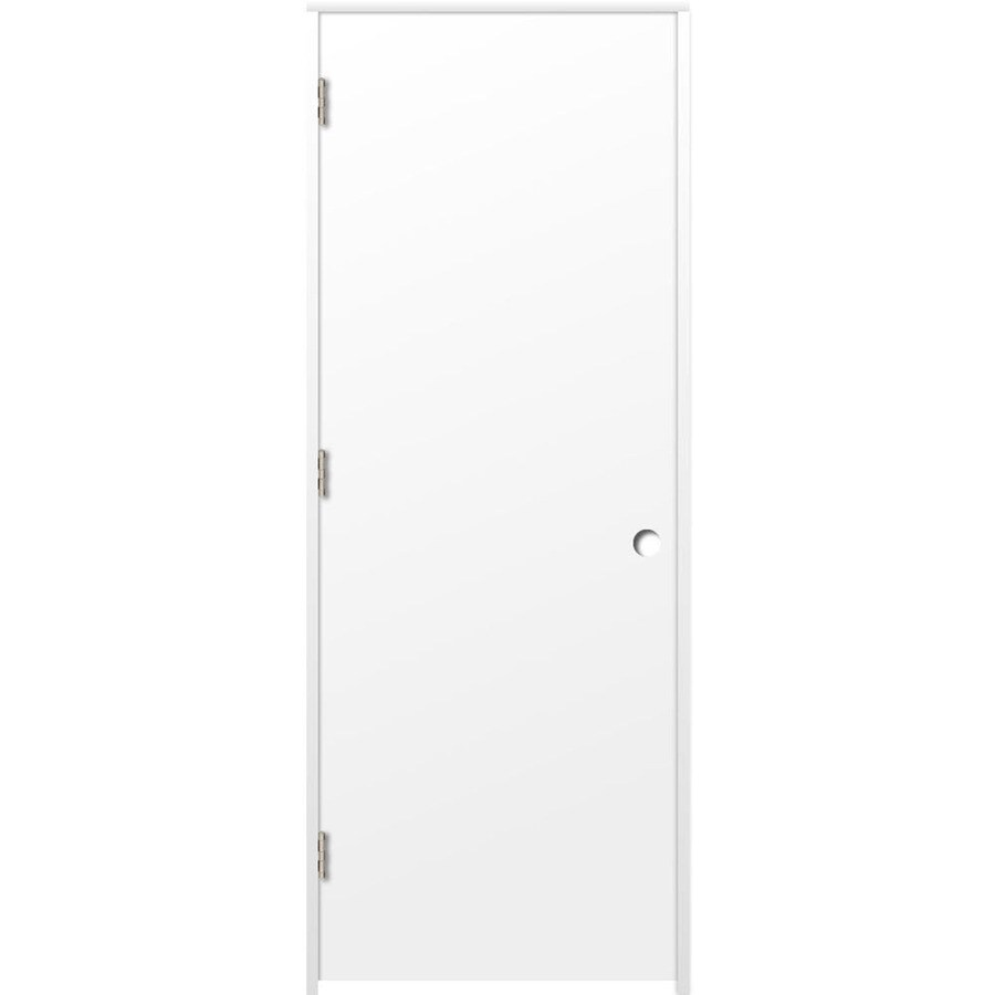 ReliaBilt Prehung Hollow Core Flush Interior Door (Common: 24-in x 80-in; Actual: 25.375-in x 81.187-in)