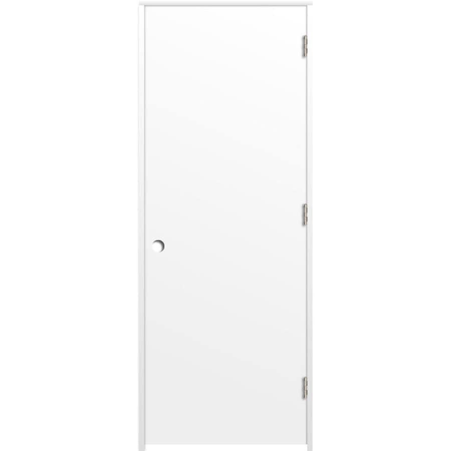 ReliaBilt (Primed) Prehung Hollow Core Flush Interior Door (Common: 24-in x 80-in; Actual: 25.375-in x 81.187-in)