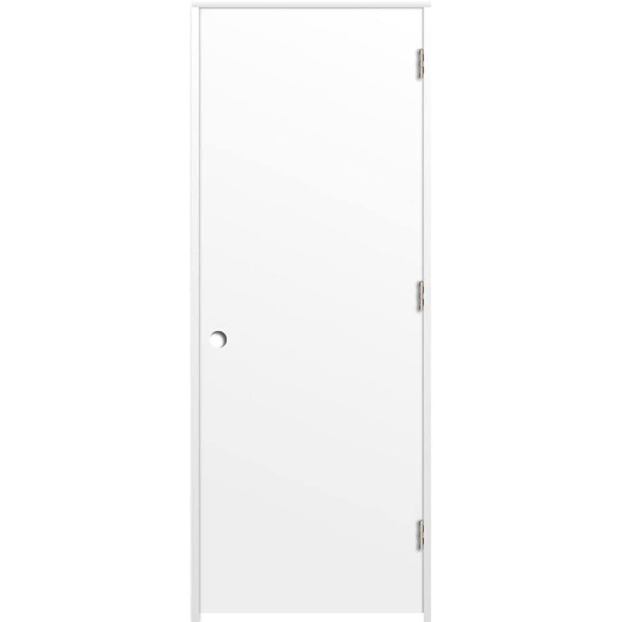 ReliaBilt Primed Hollow Core Hardboard Prehung Interior Door (Common: 32-in x 80-in; Actual: 33.375-in x 81.187-in)