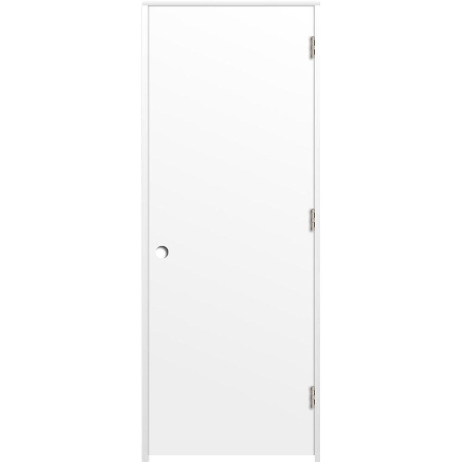 ReliaBilt Primed Hollow Core Hardboard Prehung Interior Door (Common: 36-in x 80-in; Actual: 37.375-in x 81.187-in)