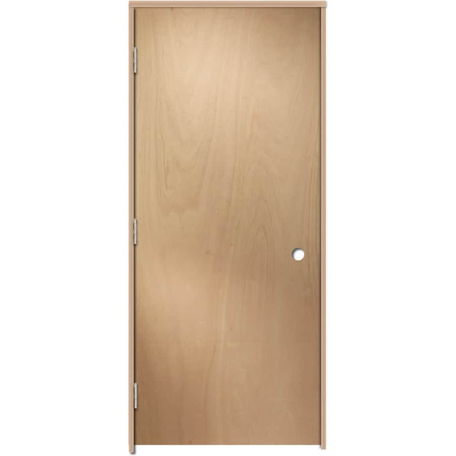 Shop reliabilt brown unfinished flush hollow core wood for Flush solid core wood interior doors