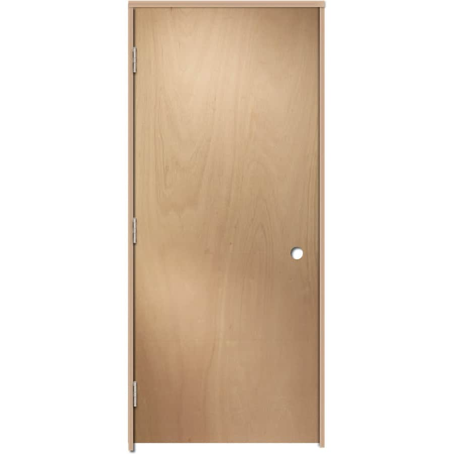 Reliabilt Brown Unfinished Flush Hollow Core Wood Lauan Single Prehung Door Common 32 In X 80