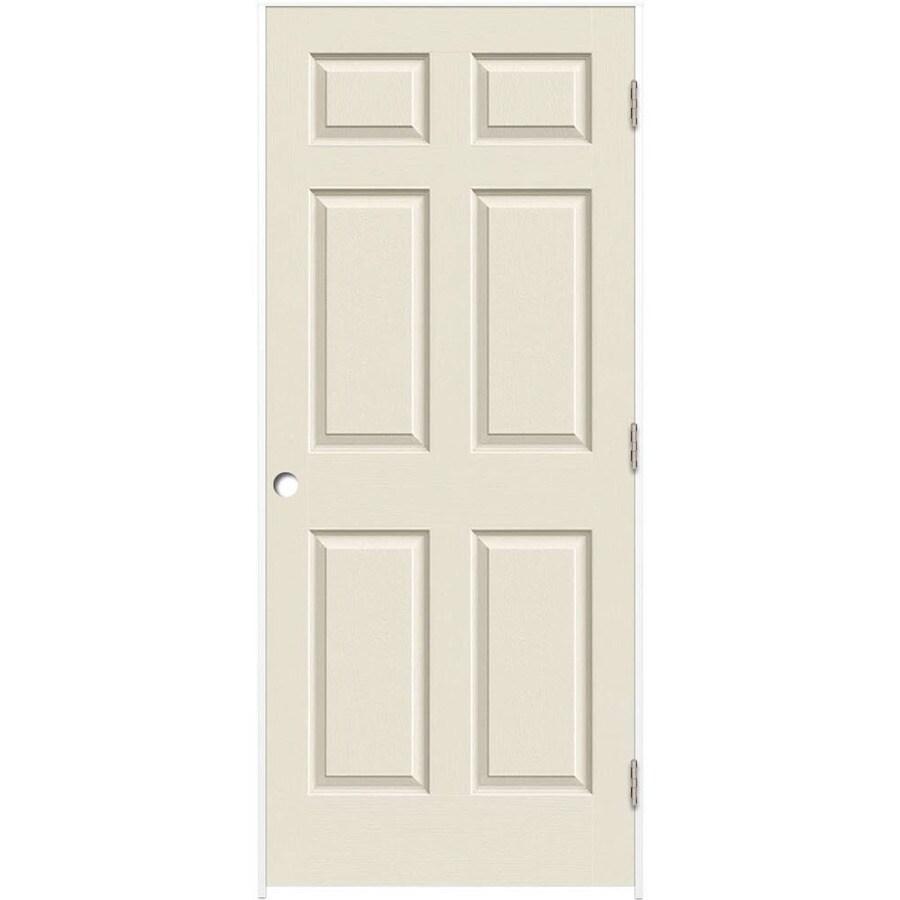 ReliaBilt Primed Solid Core Molded Composite Prehung Interior Door (Common: 24-in x 80-in; Actual: 25.375-in x 81.187-in)