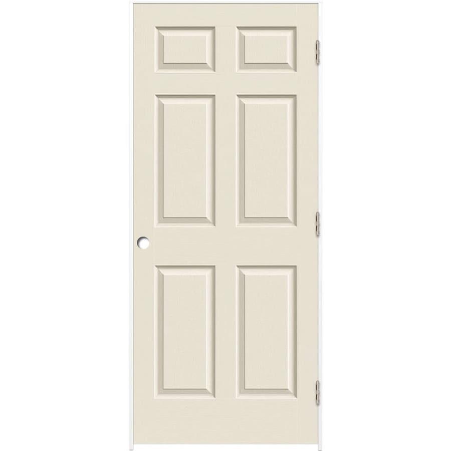 ReliaBilt (Primed) Prehung Solid Core 6-Panel Interior Door (Common: 32-in x 80-in; Actual: 33.375-in x 81.187-in)