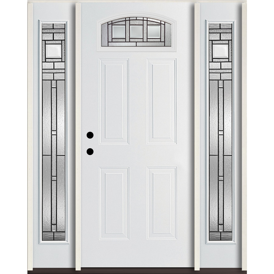 Shop reliabilt craftsman glass 4 panel insulating core for Fiberglass entry doors with glass