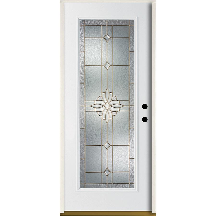 Shop reliabilt laurel flush insulating core full lite left for Flush exterior door