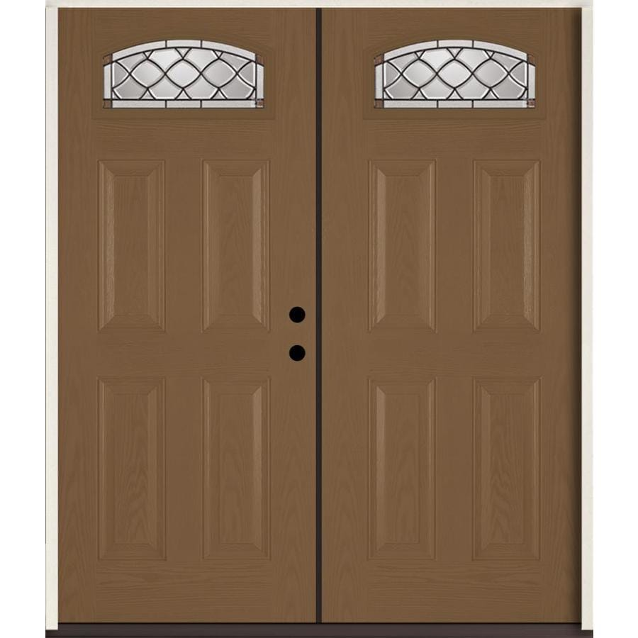 shop reliabilt sheldon decorative glass left hand inswing woodhaven fiberglass stained entry
