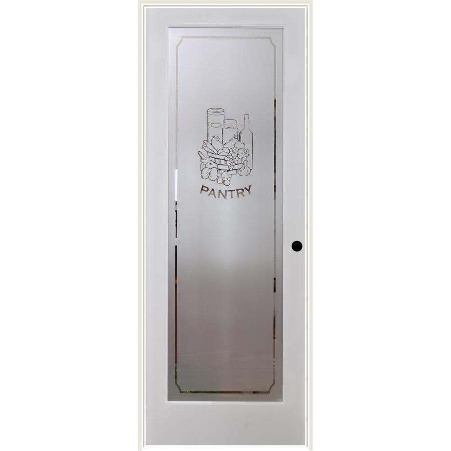 ReliaBilt Pantry Solid Core Frosted Glass Single Prehung Interior Door (Common: 28-in x 80-in; Actual: 29.5-in x 81.3125-in)