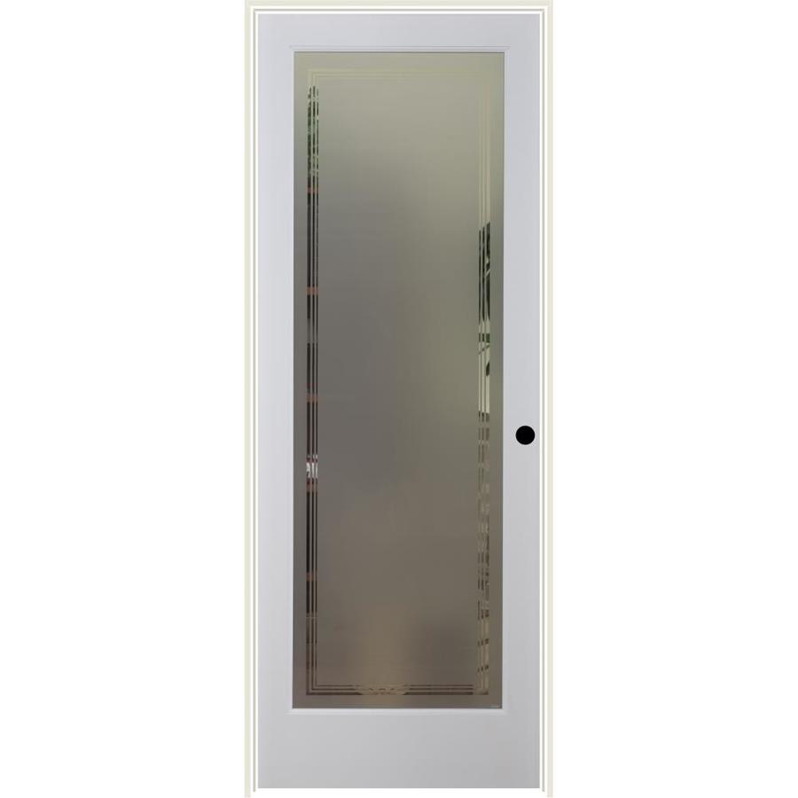 ReliaBilt Hamilton Solid Core Frosted Glass Single Prehung Interior Door (Common: 24-in x 80-in; Actual: 25.5-in x 81.3125-in)