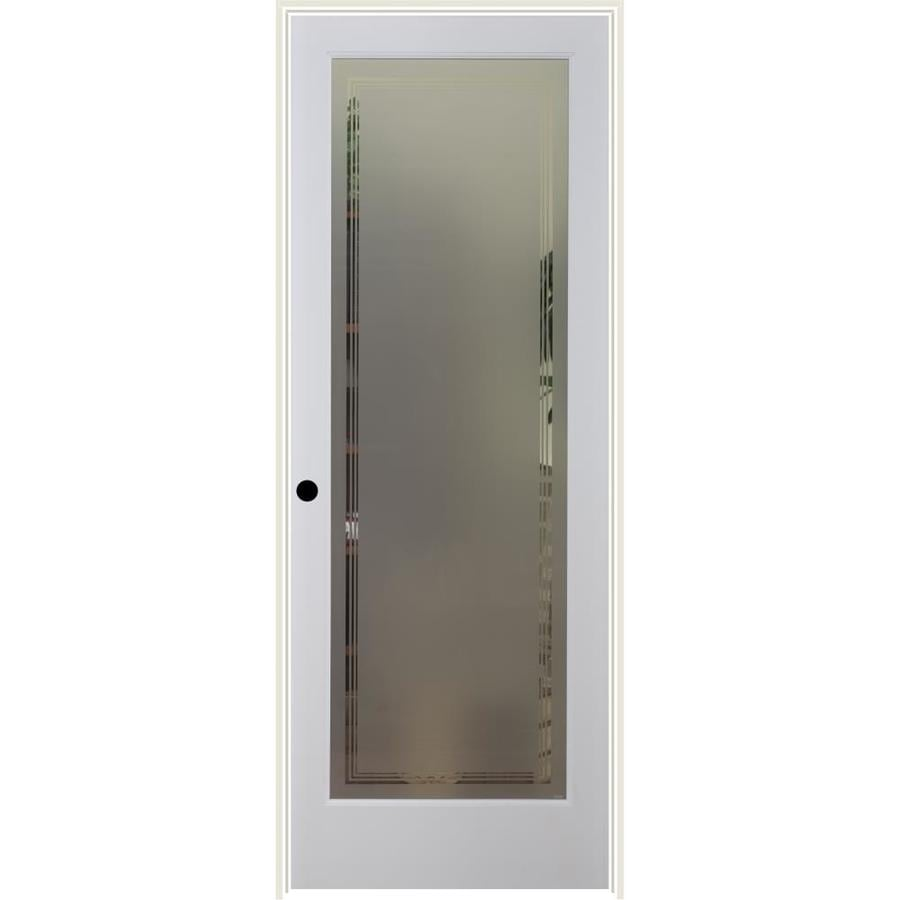 ReliaBilt Hamilton Solid Core Frosted Glass Single Prehung Interior Door (Common: 30-in x 80-in; Actual: 31.5-in x 81.6875-in)