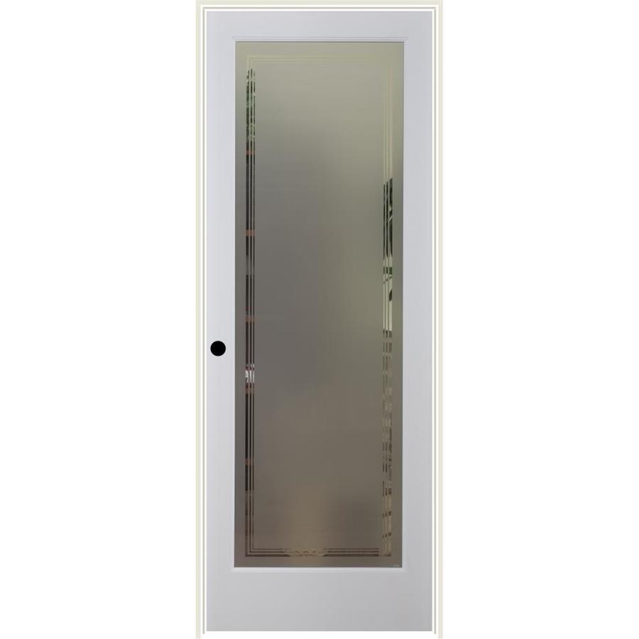 ReliaBilt Hamilton Solid Core Frosted Glass Single Prehung Interior Door (Common: 32-in x 80-in; Actual: 33.5-in x 81.6875-in)