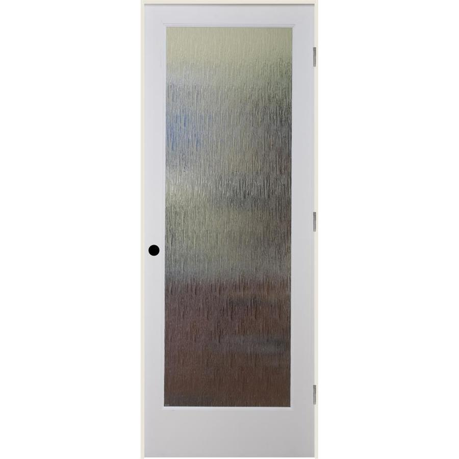 ReliaBilt Rainy Day Solid Core Patterned Glass Single Prehung Interior Door (Common: 24-in x 80-in; Actual: 25.5-in x 81.3125-in)