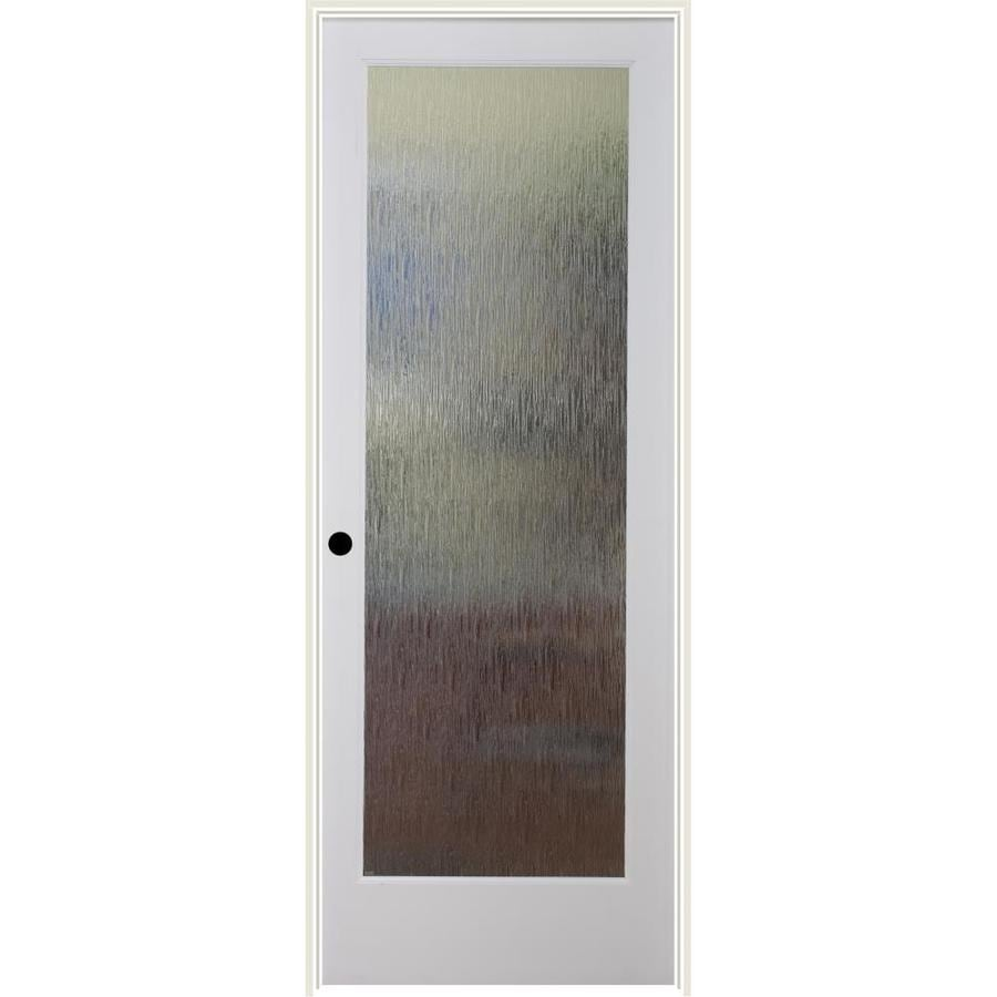 ReliaBilt Rainy Day Solid Core Patterned Glass Single Prehung Interior Door (Common: 32-in x 80-in; Actual: 33.5-in x 81.3125-in)
