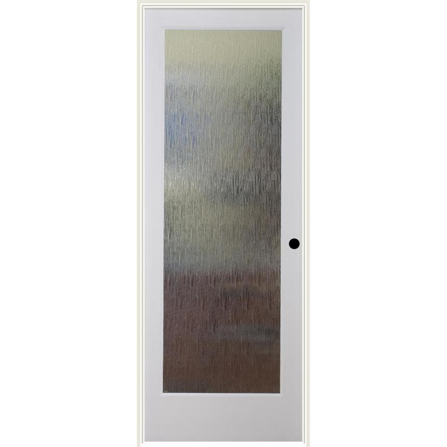 ReliaBilt Rainy Day Solid Core Patterned Glass Single Prehung Interior Door (Common: 36-in x 80-in; Actual: 37.5-in x 82.1875-in)