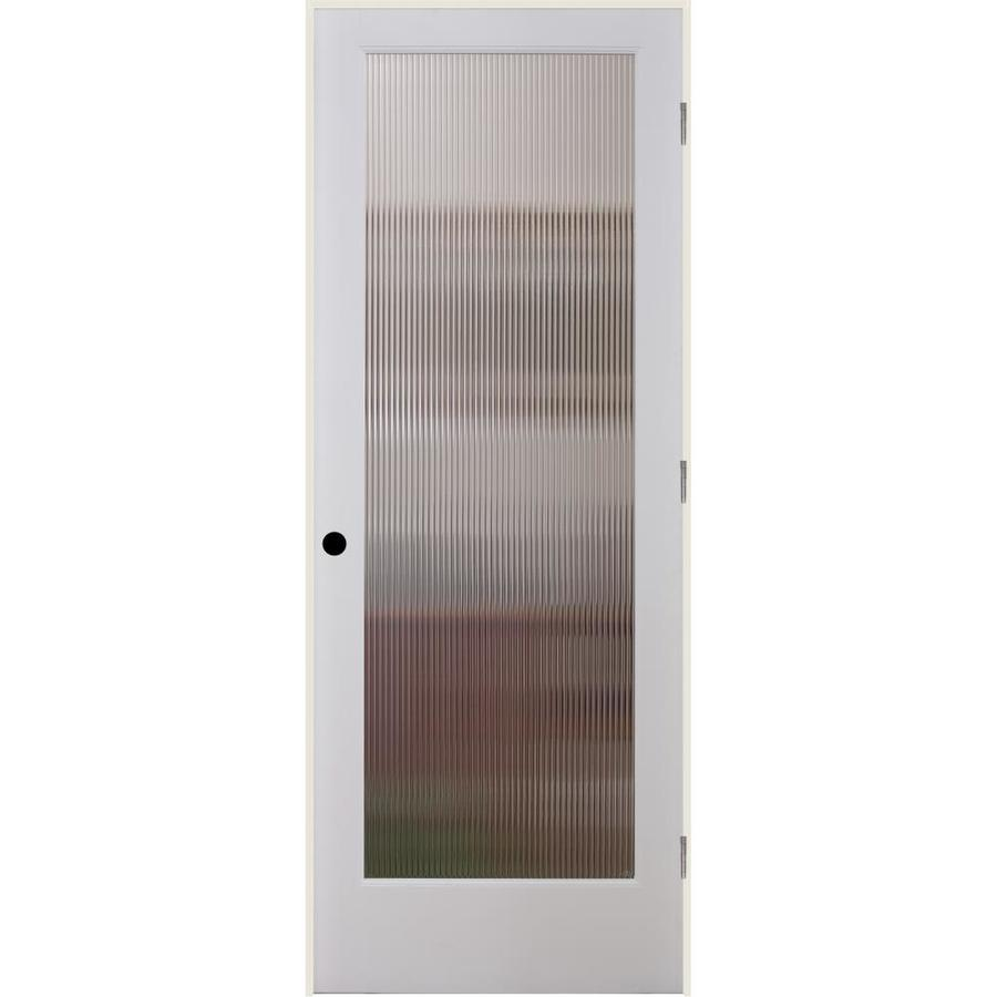 Shop Reliabilt Reed Solid Core Patterned Glass Single Prehung Interior Door Common 30 In X 80