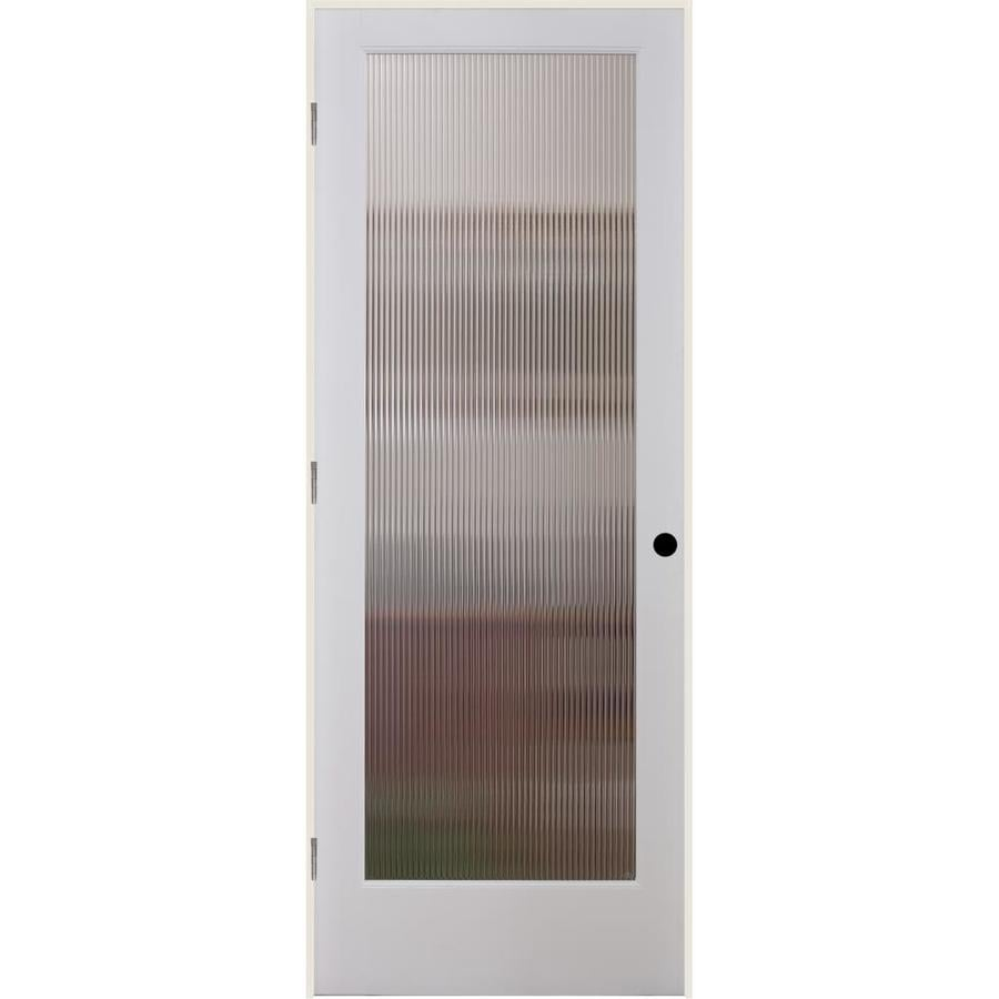 ReliaBilt Reed Solid Core Patterned Glass Single Prehung Interior Door (Common: 36-in x 80-in; Actual: 37.5-in x 81.6875-in)