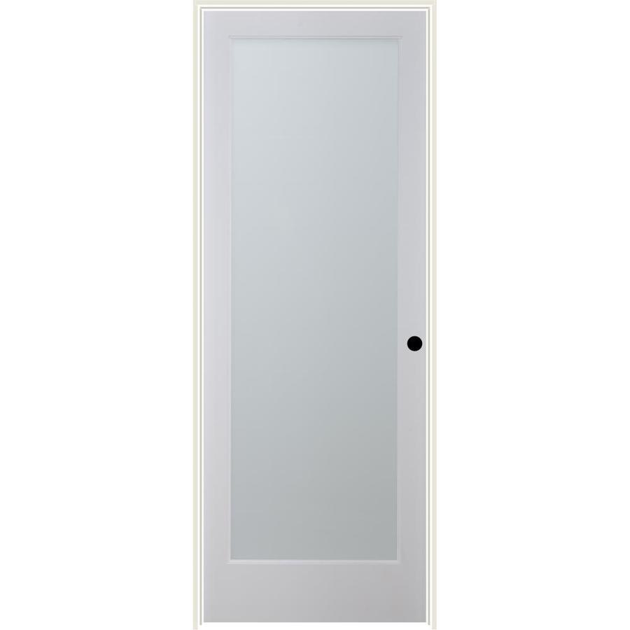ReliaBilt White Laminate Solid Core Single Prehung Interior Door (Common: 24-in x 80-in; Actual: 25.5-in x 81.3125-in)