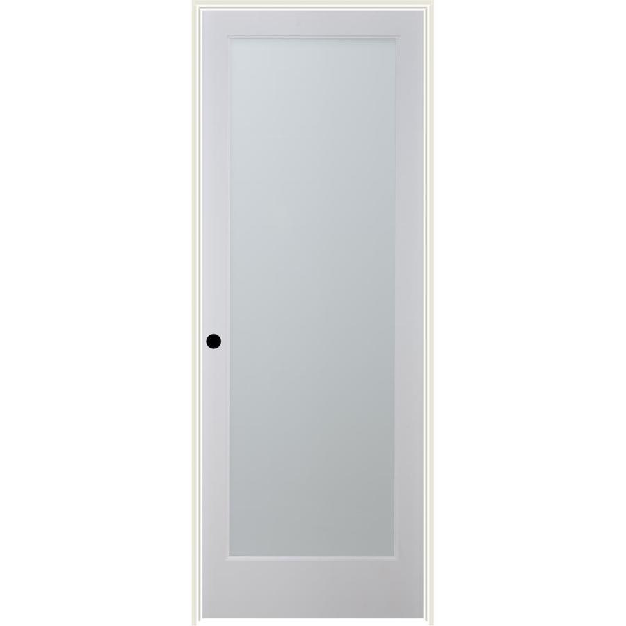 ReliaBilt White Laminate Solid Core Single Prehung Interior Door (Common: 24-in x 80-in; Actual: 25.5-in x 81.6875-in)