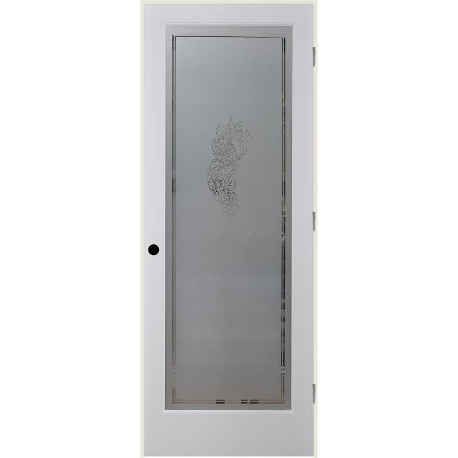 Shop Reliabilt Vintage Solid Core Frosted Glass Single Prehung Interior Door Common 30 In X 80