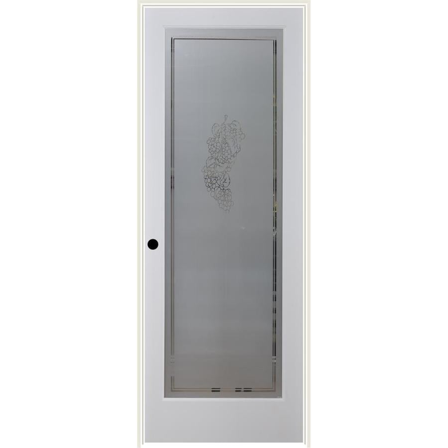 ReliaBilt Vintage Solid Core Frosted Glass Single Prehung Interior Door (Common: 24-in x 80-in; Actual: 25.5-in x 82.1875-in)