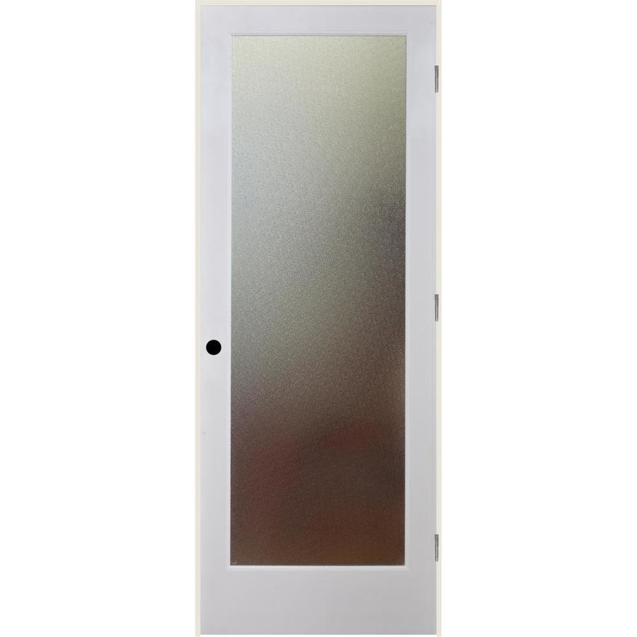 ReliaBilt Pinpoint Solid Core Patterned Glass Single Prehung Interior Door (Common: 24-in x 80-in; Actual: 25.5-in x 82.1875-in)