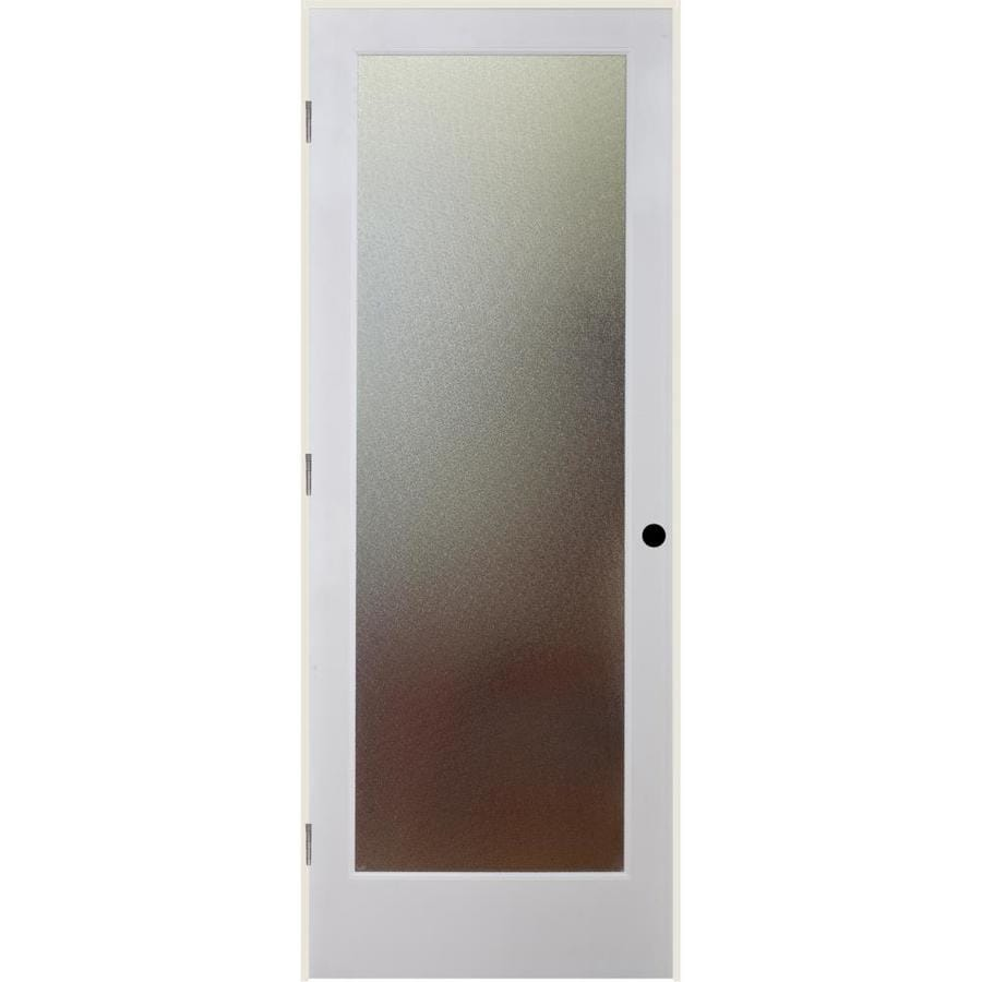 ReliaBilt Pinpoint Solid Core Patterned Glass Single Prehung Interior Door (Common: 32-in x 80-in; Actual: 33.5-in x 82.1875-in)