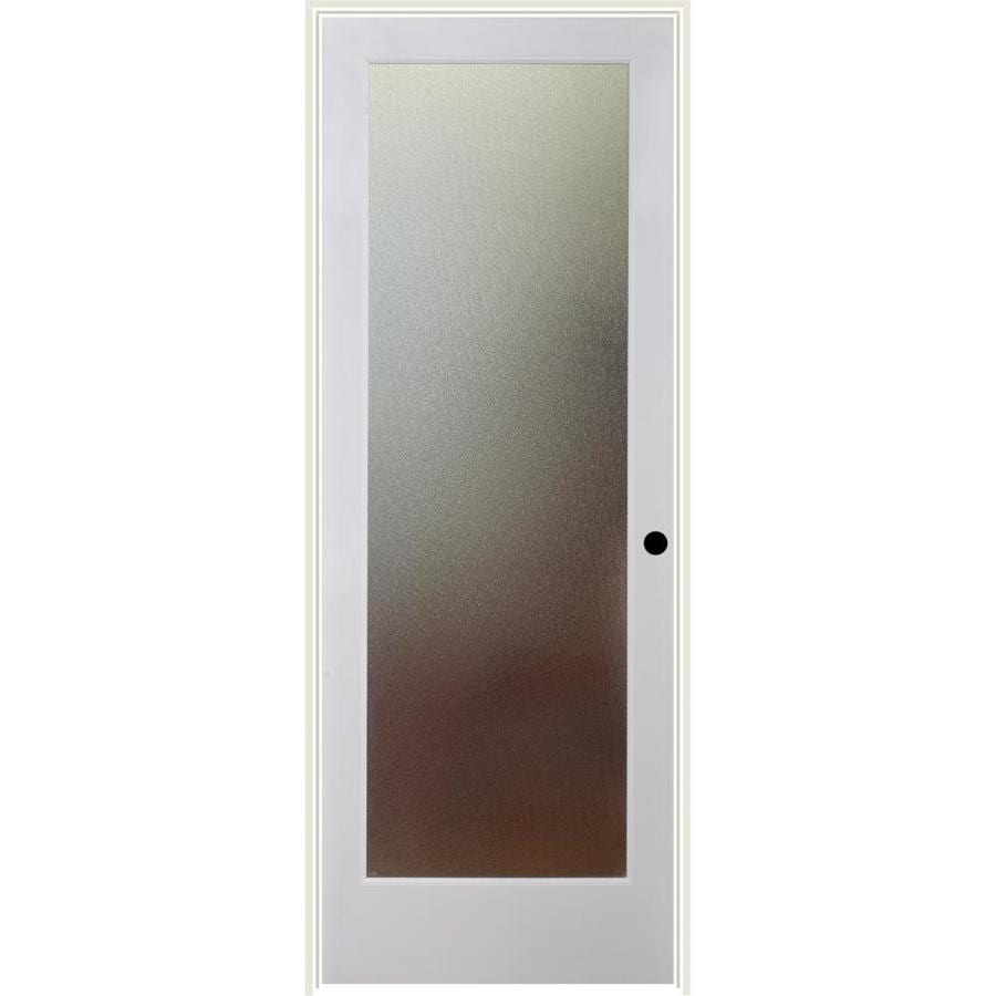 ReliaBilt Pinpoint Solid Core Patterned Glass Single Prehung Interior Door (Common: 24-in x 80-in; Actual: 25.5-in x 81.3125-in)