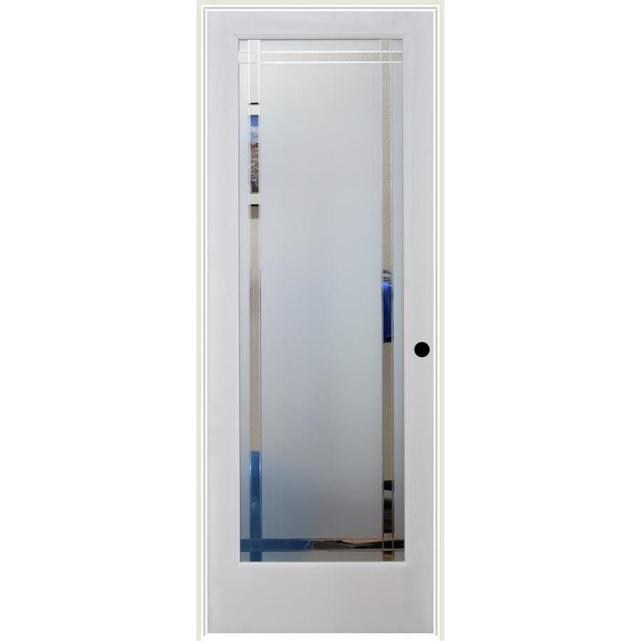 ReliaBilt 9LT Obscure Solid Core Etched Glass Single Prehung Interior Door (Common: 30-in x 80-in; Actual: 31.5-in x 81.6875-in)