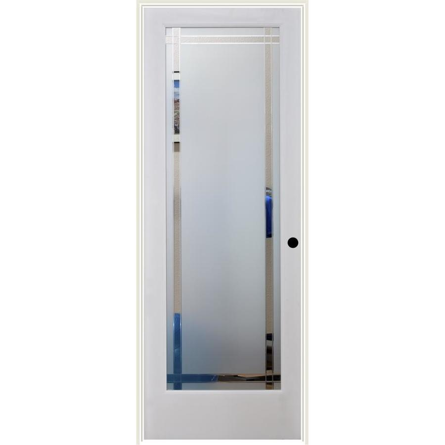 ReliaBilt 9LT Obscure Solid Core Etched Glass Single Prehung Interior Door (Common: 32-in x 80-in; Actual: 33.5-in x 81.6875-in)