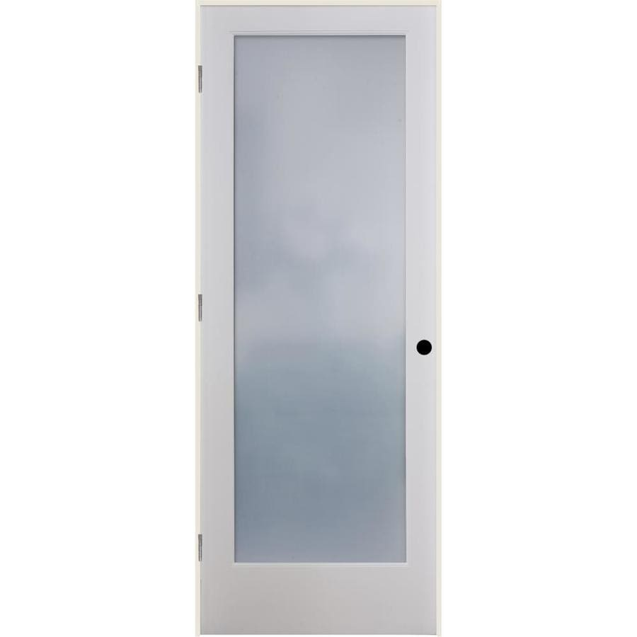 ReliaBilt Frosted Glass Solid Core Single Prehung Interior Door (Common: 36-in x 80-in; Actual: 37.5-in x 81.3125-in)