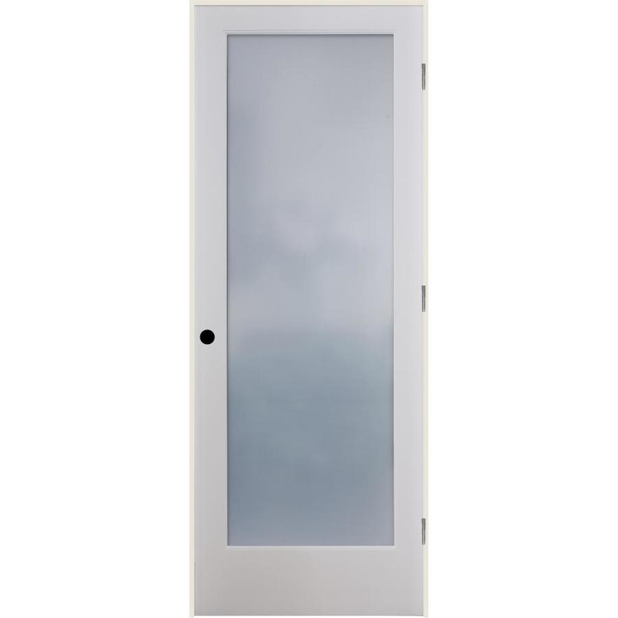 Shop Reliabilt Frosted Glass Solid Core Single Prehung Interior Door Common 36 In X 80 In