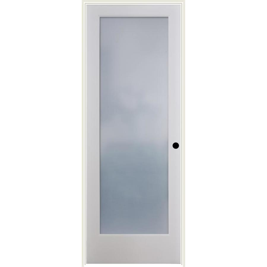 ReliaBilt Frosted Glass Solid Core Single Prehung Interior Door (Common: 32-in x 80-in; Actual: 33.5-in x 81.6875-in)