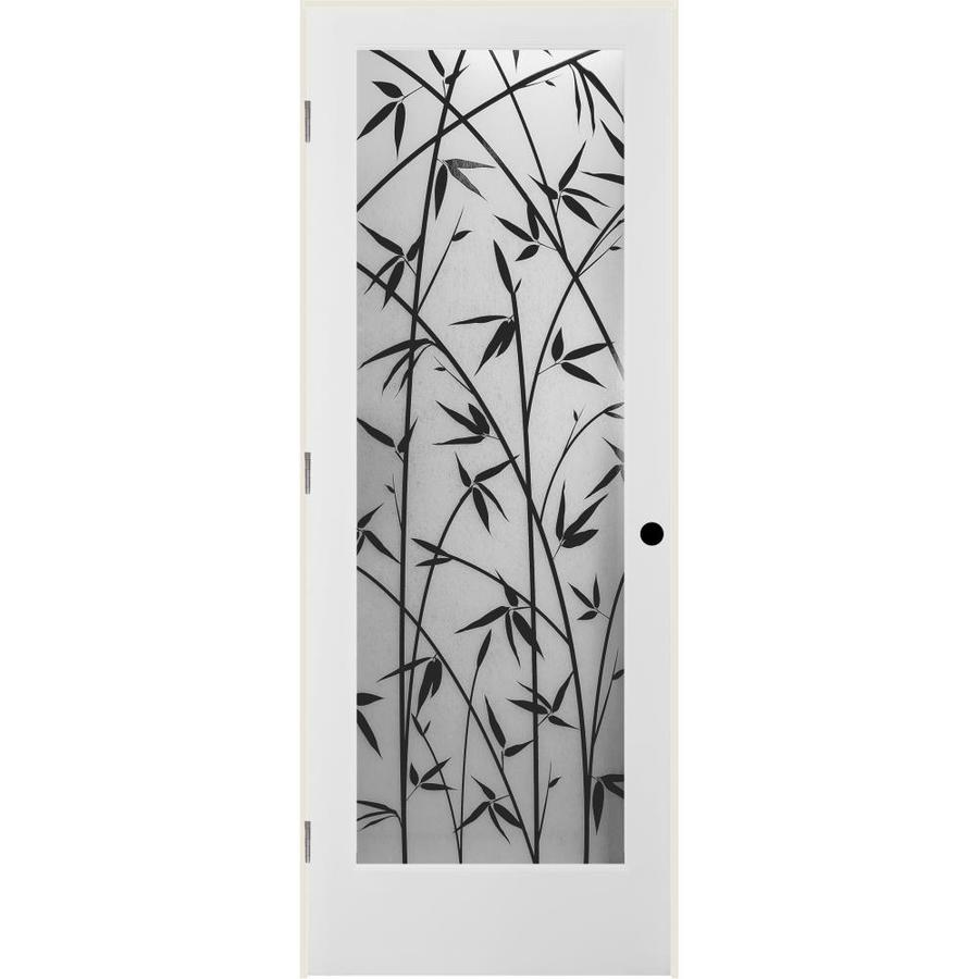 ReliaBilt Frosted Bamboo Solid Core Single Prehung Interior Door (Common: 36-in x 80-in; Actual: 37.5-in x 81.3125-in)