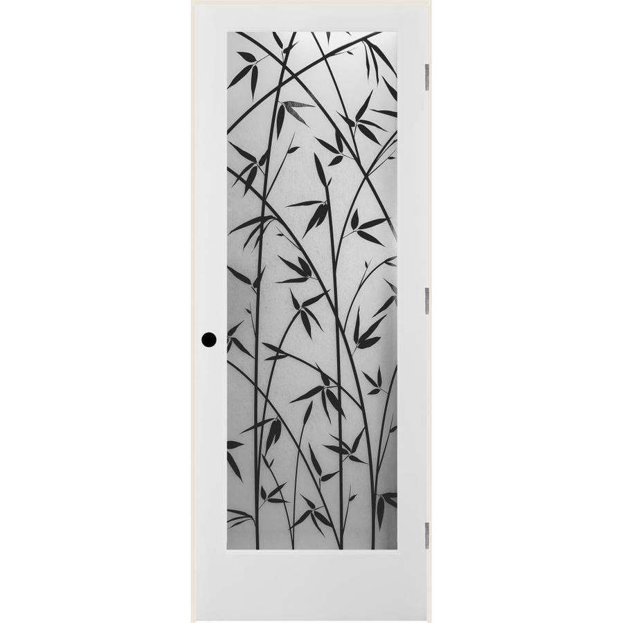 ReliaBilt Frosted Bamboo Solid Core Single Prehung Interior Door (Common: 24-in x 80-in; Actual: 25.5-in x 82.1875-in)