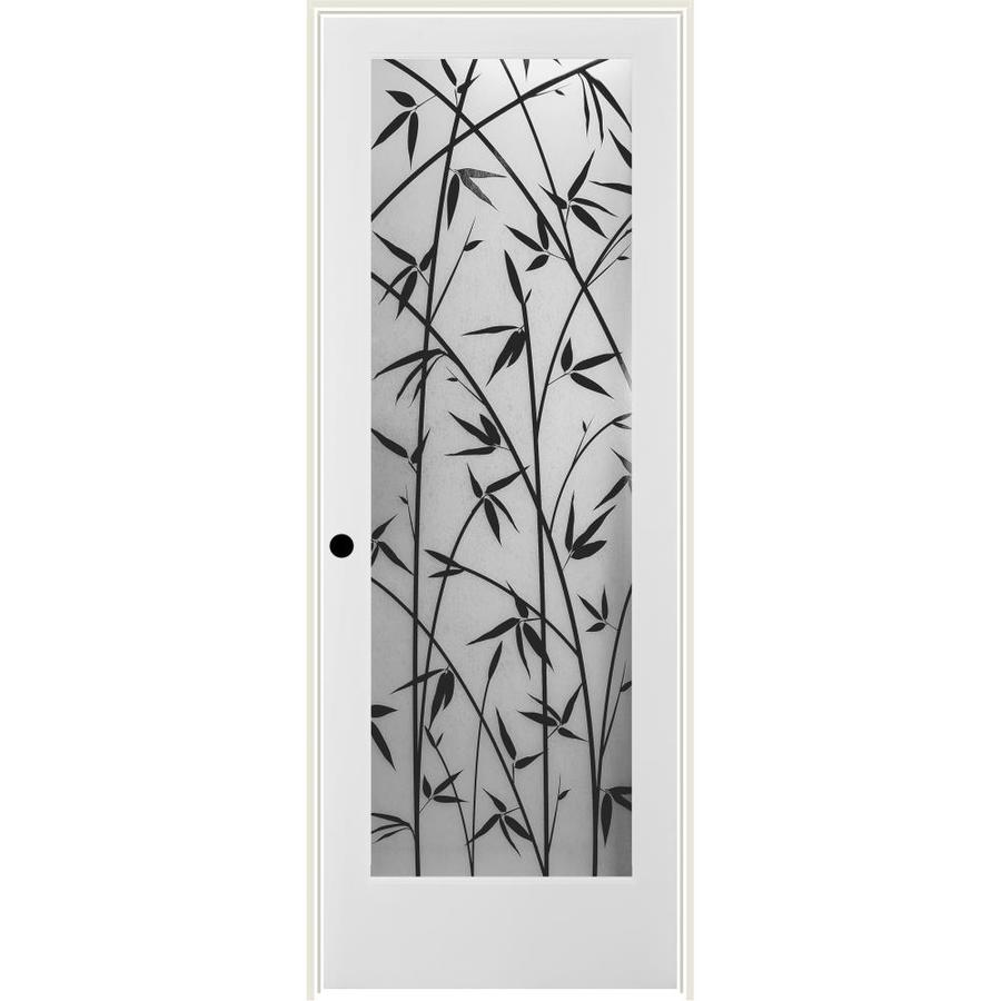 ReliaBilt Frosted Bamboo Solid Core Single Prehung Interior Door (Common: 32-in x 80-in; Actual: 33.5-in x 82.1875-in)