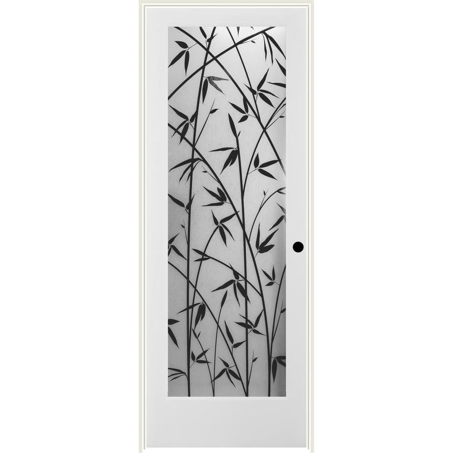 ReliaBilt Frosted Bamboo Solid Core Single Prehung Interior Door (Common: 30-in x 80-in; Actual: 31.5-in x 81.6875-in)