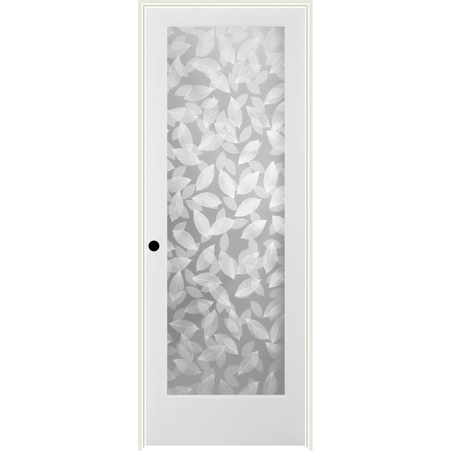 ReliaBilt Botanical Solid Core Frosted Glass Single Prehung Interior Door (Common: 30-in x 80-in; Actual: 31.5-in x 81.6875-in)