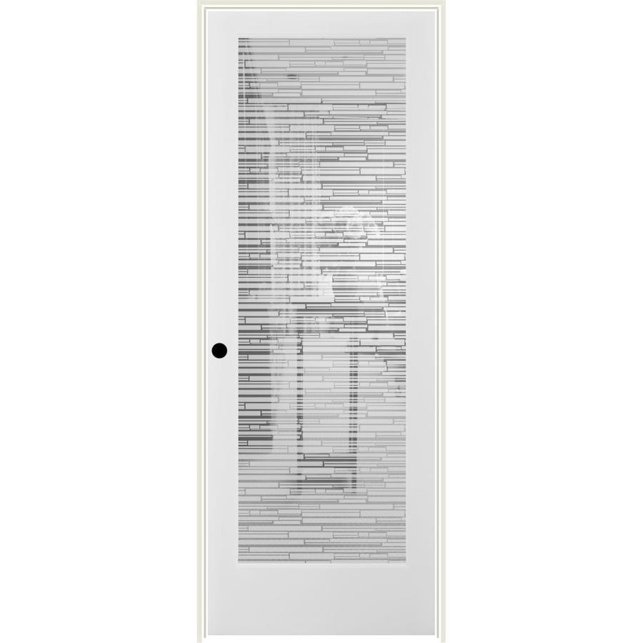 ReliaBilt Mosaic Solid Core Frosted Glass Single Prehung Interior Door (Common: 28-in x 80-in; Actual: 29.5-in x 82.1875-in)