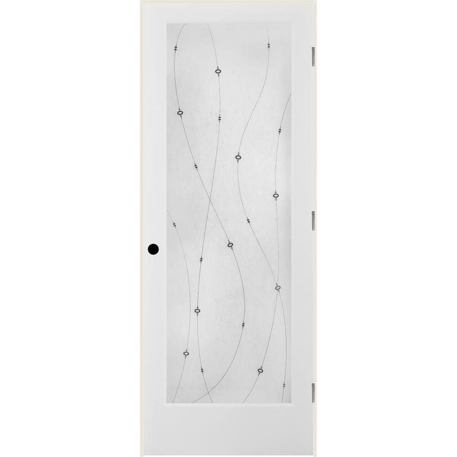 ReliaBilt Shelby Solid Core Frosted Glass Single Prehung Interior Door (Common: 36-in x 80-in; Actual: 37.5-in x 81.6875-in)